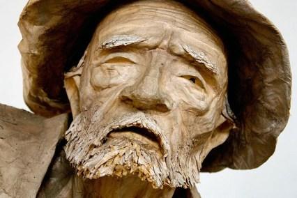 Detalle de escultura en el Museo Trapiche de los Clavo. Patrimonio cultural de Boconó, estado Trujillo. Venezuela.