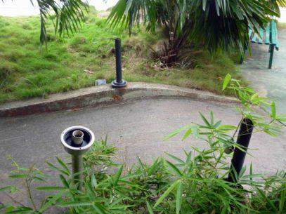 Alumbrado sin luminarias en el parque Los Mangos de Barinas. Bien cultural de la ciudad de Barinas, estado Barinas, Venezuela.