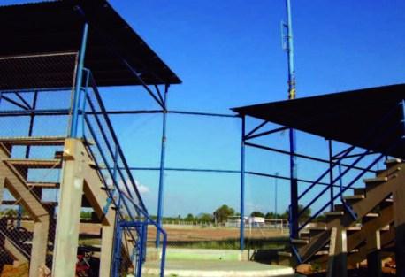Vista de las gradas y diamante del estadio J L Ford, bien cultural del municipio Bolivar, estado Zulia. Venezuela.