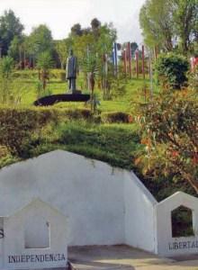 Estatua de Cipriano Castro en el parque homónimo, también fue robada. Patrimonio cultural de Venezuela en riesgo.