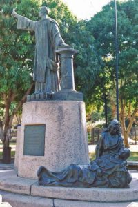 Grupo escultórico Monseñor Montes de Oca. Patrimonio cultural de Valencia, Venezuela.
