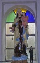 Imágenes sacras en la iglesia San Vicente Ferrer. Patrimonio cultural de la ciudad de Rubio, estado Táchira. Venezuela.