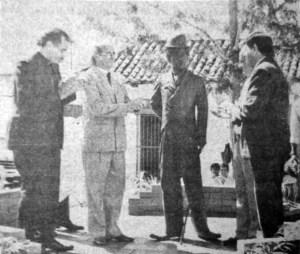 Inauguración de la estatua de Charles Chaplin el 28 de octubre de 1990. Patrimonio de Mérida en riesgo. Mafia del bronce
