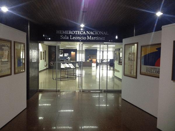 Hemeroteca Nacional. Foto: Mayerling Zapata López