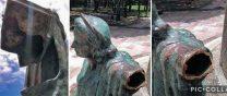 Mafias del bronce destruyen el grupo escultórico que honra a monseñor Montes de Oca en Valencia. Patrimonio cultural de Venezuela en peligro.