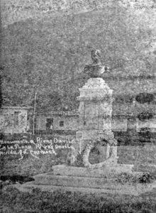 Monumento a Rivas Dávila en la década de los 30. Ciudad de Mérida.