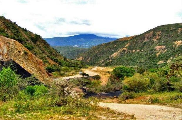 Paisaje de Lobatera, rico en arcilla y carbón. Patrimonio cultural del estado Táchira, Venezuela.