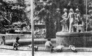 Plaza Las Heroínas en mayo de 1987. Foto Frontera. Digitalización Samuel Hurtado Camargo