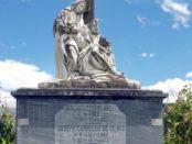 Mausoleo de la familia Clavo, en el cementerio municipal de Boconó, estado Trujillo. Patromonio cultural de Venezuela.