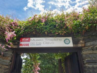 Entrada del Museo trapiche de los Clavo, creado en homenaje a la familia. Patrimonio cultural de la ciudad de Boconó, estado Trujillo, Venezuela.