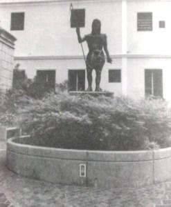 Registro de la figura con la lanza. Foto Esto es Valera.
