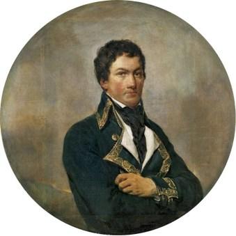 Retrato de Francisco de Miranda realizado en 1835. Óleo sobre tela de Georges Rouget (1783–1869). Colección Museo Nacional de Versalles. Patrimonio histórico de la ciudad de Mérida, Venezuela.
