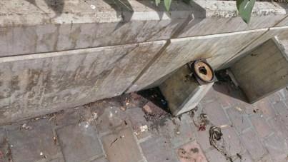 Se robaron las conexiones eléctricas de los bulevares que circundan la iglesia San Juan Bautista, de Valera. Patrimonio venezolano en riesgo.