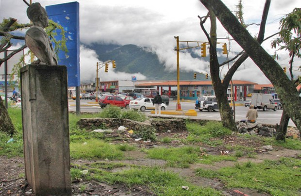 Monumento al doctor Eloy Paredes. Patrimonio cultural amenazado de Mérida, Venezuela.