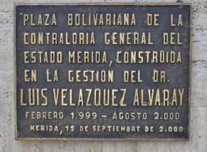 Monumento Bolívar de Los Andes, en la plaza Bolivariana de Mérida. Patrimonio cultural de Mérida, Venezuela.