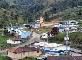 Templo Sagrado Corazón de Jesús de Laguna de García. Patrimonio cultural del estado Táchira, Venezuela.