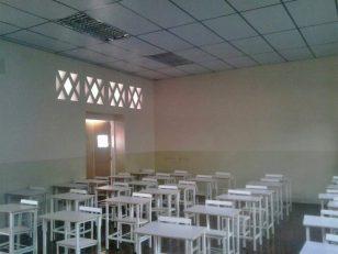 Aula restaurada de la Unidad Educativa Elías Calixto Pompa. Foto @CregionalPZ, 24 de octubre de 2017.