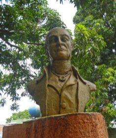 Este era el busto de Andrés Bello que fue robado del paseo Los Trujillanos, Barinas. Foto Marinela Araque, 25 de septiembre de 2017.