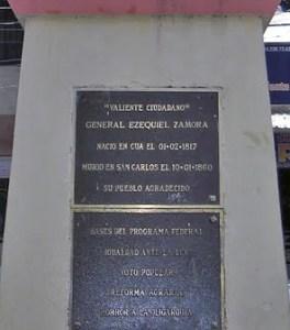 Plaza Ezequiel Zamora, Cúa. Patrimonio cultural de Cúa, estado Miranda. Venezuela.