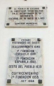 Roban la espada de Bolívar. Plaza Bolívar de Escuque, Trujillo. Patrimonio cultural venezolano en riesgo.
