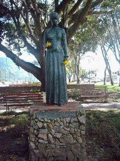 Monumento a María de la Concepción Palacios y Blanco. Patrimonio cultural de Mérida, Venezuela.