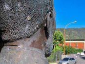 Busto de Benedicto Monsalve. Plazoleta Benedicto Monsalve, Mérida. Patrimonio cultural de Venezuela en riesgo.