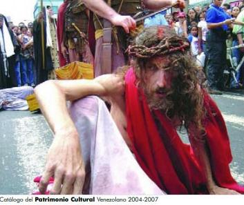 Registro de la tradición del Vía Crucis en el Catálogo del patrimonio cultural venezolano, editado por el IPC.