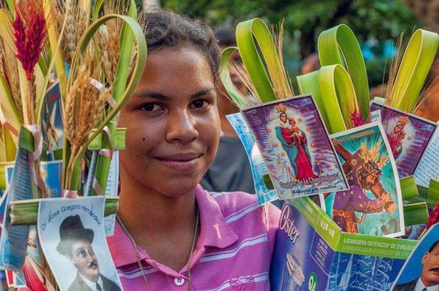 Bendición de las palmas. Patrimonio inmaterial de Venezuela. Tradiciones religiosas.