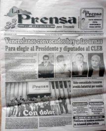 Diario La Prensa de Barinas. Patrimonio cultural de Venezuela.