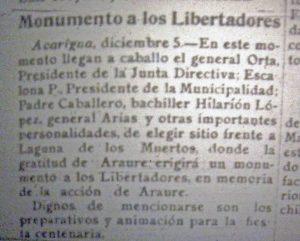 La laguna de los Muertos. Patrimonio arqueológico y natural de Venezuela. Araure, Portuguesa.