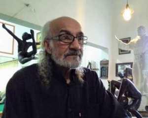 Adolfo Estopiñan, autor del monumento al padre José María Rivotal, en Naguanagua, Valencia. Carabobo, Venezuela.
