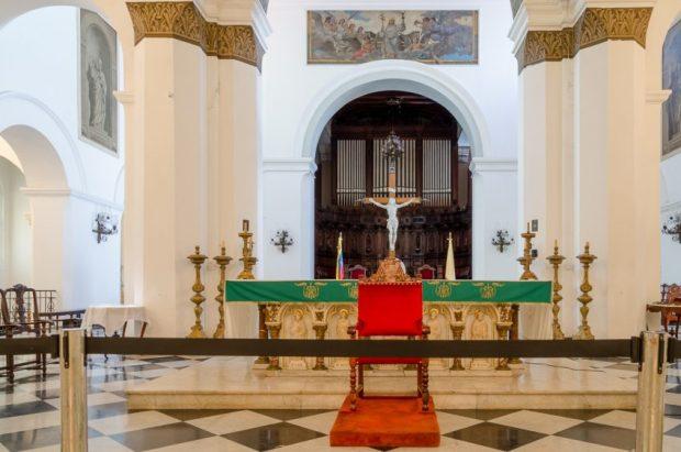 Altar mayor de la Catedral de Caracas. Monumento Nacional de Venezuela. Patrimonio arquitectónico.