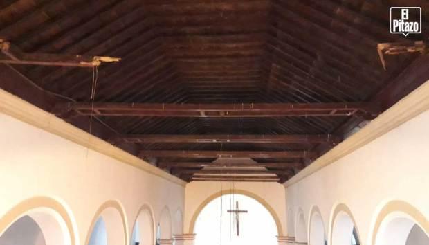 Catedral San Carlos.Vigas del techo