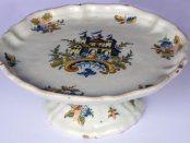 Salvilla de la colección de cerámica del Museo de Arte Colonial, o Quinta de Anauco. Patrimonio cultural de Venezuela.