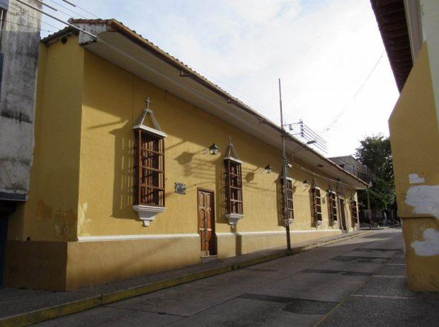 El Museo de Arte Colonial de Mérida, monumento histórico nacional. Patrimonio cultural de Venezuela.
