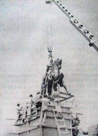 Monumento a Juan Rodríguez Suárez, el fundador de la ciudad de Mérida. Patrimonio cultural de Venezuela.