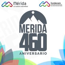 Logo oficial de los 460 años de la fundación de la ciudad de Mérida, Venezuela. Fuente Fundecem.jpg