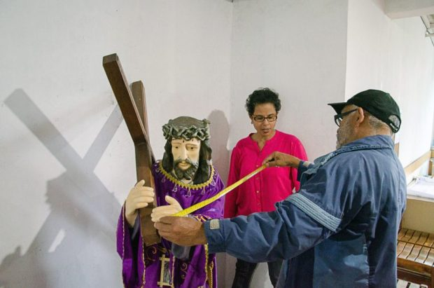 El Calvario, taller de reconocimiento patrimonial II para registro en fotogrametría. El Hatillo, Caracas.
