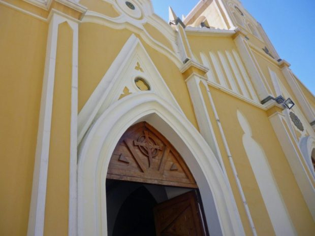 Líneas neogóticas de la iglesia Nuestra Señora de El Espejo, Mérida-Venezuela. Foto Marinela Araque, diciembre 2018.