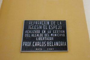 Reparación de la iglesia El Espejo por la alcaldía Libertador, Mérida. Foto Marinela Araque, diciembre 2018.