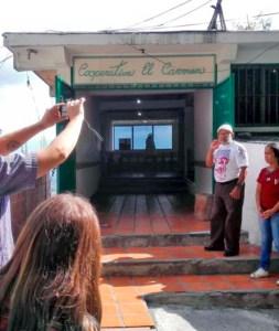 La Cooperativa El Carmen es uno de los referentes comunitarios que se registran en el taller de fotogrametría de El Calvario. copia