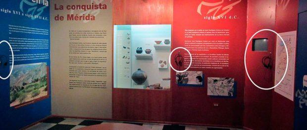 Parte del mobiliario sustraído del Museo Arqueológico de Mérida por los hampones. Foto Samuel Hurtado Camargo, mayo 28 de 2018.