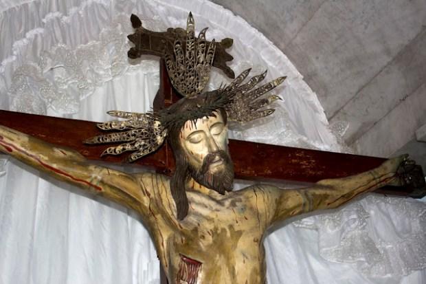 Sección superior lateral derecha (izquierda del observador) del Santo Cristo de La Grita. Foto Abel Gerardo Rodríguez, TRT, 2013.