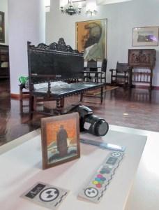 Todo preparado para el registro de fotogrametría en el Palacio de las Academias. Foto Luis Chacín, 2019.