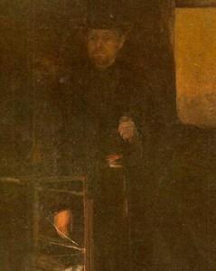 Fragmento de El plazo vencido (1887), obra de Cristóbal Rojas. Colección Galería de Arte Nacional, Caracas-Venezuela.