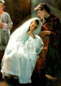 Fragmento de la obra Primera y última comunión (1888).
