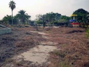 La abandonada plaza Francisco de Miranda, en Barinas. Foto Marinela Araque, marzo 2019