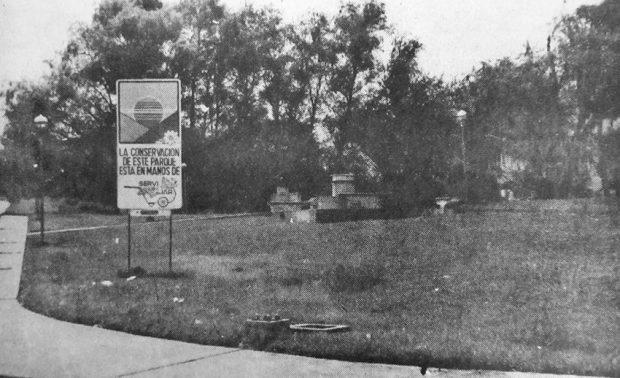 1982. Vista del parque Gabriel Picón González. Foto Frontera, junio 27 de 1982. Dig. Samuel Hurtado Camargo.