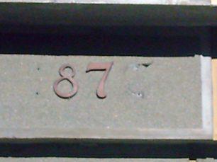 Letras de bronce sustraídas del monumento a Páez, en el año 2005. Mérida, Foto Juan Diego García Panqueva, junio 16 de 2005. Estatua ecuestre de Páez, patrimonio cultural de Mérida, Venezuela.