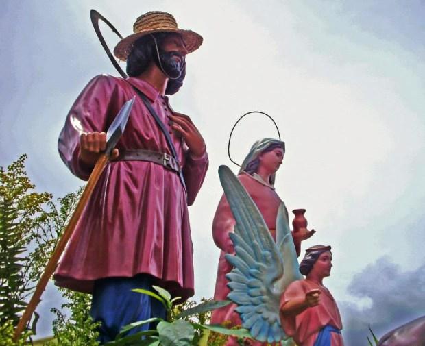 Imagen de San Isidro Labrador en la procesión de Sanare, Lara, en honor al santo. Foto Orlando Paredes_Facebook Portafolio de las Tradiciones Venezolanas, 2014.